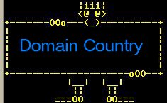 The sign guy wants to give you Domain Country